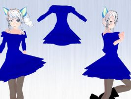 MMD Simple Dress DL by Verkania