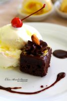 Choco Almond Brownie by Foodtrip