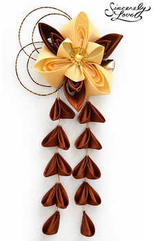 Burnished Copper Kanzashi by SincerelyLove