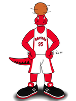 NBA Mascots - The Raptor by Bleuxwolf