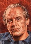 Paintings on a Postcard 5# Jack Nicholson by ObsidianSerpent