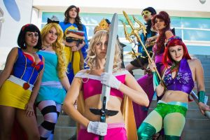 SuperHero Disney Princesses 3 by Vampire--Kitten