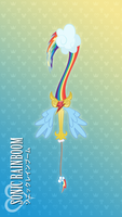 Rainbow Dash Keyblade ~Sonic Rainboom~ by lexxiesia