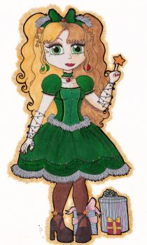 Christmas Lolita Collection Redux: Tree Lolita by TheDramaticMonarch