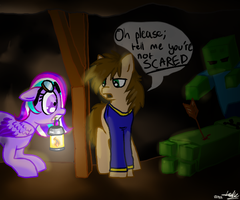 'I'm not scared of anyt- EEEK!' by HollyClowder