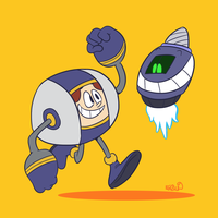 Art Trade: Buster and Blips by WinWinStudios