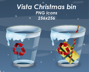 Vista Christmas Bin pack by Guylia Iconos para Windows XP