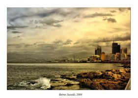 Beirut Sea-Front in the Sunset by gors