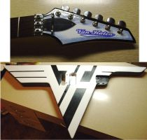 VH logo guitar paint in progress! by lryvan