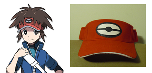 Pokemon Black and White 2 Boy Visor by SailorUsagiChan