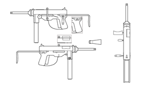 M3 Grease Gun for Fallout: Equestria by SgtMuffin