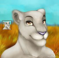 Commission icon lioness by HavickArt