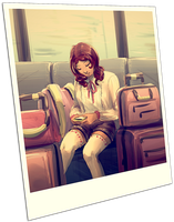 Picture on the Train by applePAI