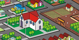 Little City  Vector by chakibs