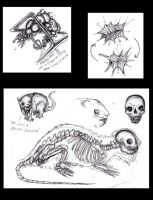 Sketches for Lovecraftian Creatures 2, Witch House by KingOvRats