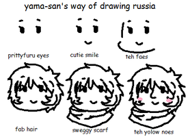 How to Draw Russia with Sweg: Yama-san's Version by YamaMilkHigh