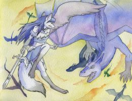 Inner Dragons Wing De'fiancee by Foxenawolf