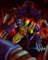 Wolverine vs Apocalipsis by MarceloDisco
