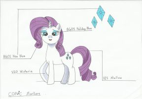 Rarity Copic markers by angela808
