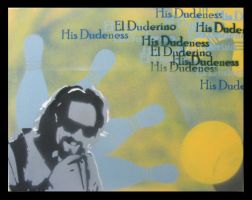 Big Lebowski Canvas - The Dude by Cheps-Oner