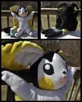 Giant Emolga Plush by Mermade4u