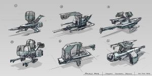Spaceship Thumbnail Designs by minifong
