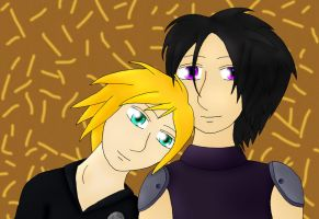 Zack and Cloud for Loli-cakes by Phoneix-Faerie