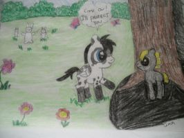 Shadow Hugger and Spotty contest entry by grandmoonma