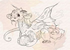 Berry - miniature of Pixie Dragon by MechanicPigeon