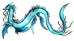 Sea Serpent Dragon Commission by Eternity9