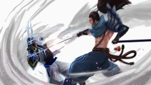 Yasuo vs Zed by kiremeister