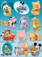 Disney Babies by uses-peach-in-ssbb