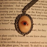 Violet fairy eye pendant by kirstenbakker