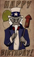Uncle Sam color by vonholdt
