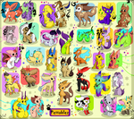 33 FREE adoptables CLOSED by Roxalew