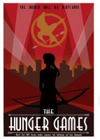 The Hunger Games- Art Deco Vector Concept Poster by Ladybug-17