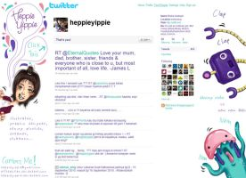 my twitter page by heppieyippie
