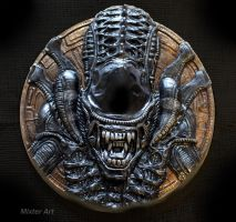 ALIEN HEAD, Mug-shot. by Mixta110