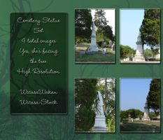 Cemetary statue set by Wicasa-stock