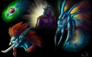 Warcraft skeches by MoonTheDragonessa