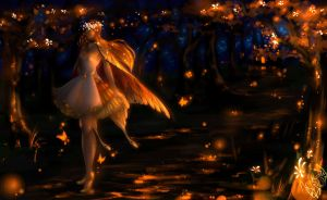 AF : A Golden Butterfly by SpiderShii