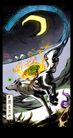 Okami: Crescent by Ahkward