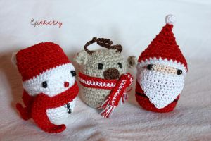 Crocheted on Kinder egg container by Efindustry