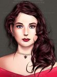 Wavy-haired girl by AlienTormentor