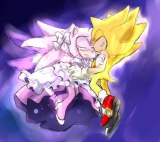 Super Sonic X Ultimate Amy by GaruGiroSonicShadow