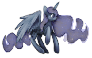 Really sloppy Luna drawing by Nalenthi