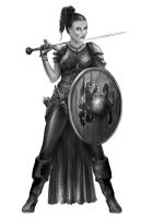 Female Warrior from Albernia by Ghosthornet
