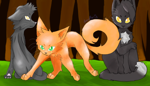 Fire, Gray and Raven by AveryMar