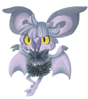 Painting Practice - Noibat by Snow-ish