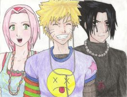 Modern Naruto Colored by CrAzYgOoDpOpTaRt